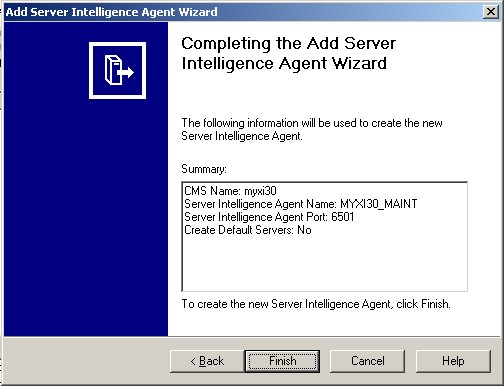 Server Intelligence Agent Wizard